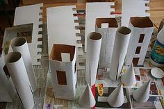 Vamos fazer um castelo com materiais reutilizáveis?   Sugestão:   História Bíblica da Rainha Ester.   Fazer com os pré-adolescentes na Esc...