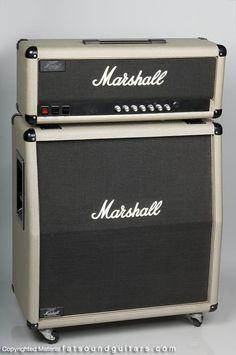 1987 Marshall 2550 Silver Jubilee half stack (Fat Sound Guitars).  Sweetness...