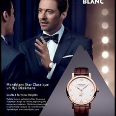 Hjū Džekmans un Montblanc Star Classique! #Montblanc #MontblancRiga #luxury #watches #Hugh #Jackman #leather #riga #latvia