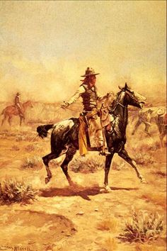 "Charles Marion Russell also known as C. M. Russell, Charlie Russell, and ""Kid"" Russell, was an artist of the Old American West. Russell created more than 2,000 paintings of cowboys, Indians, and landscapes set in the Western United States."