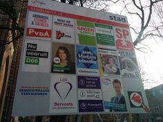Municipal elections posters, Groningen, NL.