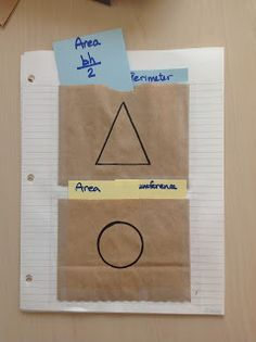 Middle School OCD - brown paper bags make great pockets for interactive notebooks! 06MTR14LC10