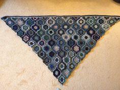 Jane Crowfoot's Mystical Lanterns shawl