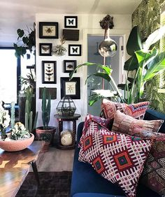 Have you found @austincarrier yet? He's my #moreismoredecor pick this week. Austin has a unique style that I find incredibly refreshing and inspiring! He's a master of layers, patterns, gallery walls, and he's a fellow plant lover! He's a perfect example of how being yourself in your decorating shows your uniqueness!! Do you, people!! I'm sad to say this is my final pick for the #moreismoredecor tag. @eclectic.leigh @sadies_lovely_life @kara__evans and I have decided to put the tag to rest…