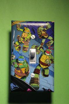 Teenage Mutant Ninja Turtles TMNT Light Switch by ComicRecycled, $7.99
