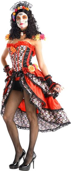 Adult Sexy Day of the Dead Costume - Party City