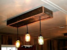 Mason Jar Chandelier a DIY project: With Our Barn Wood Update ...