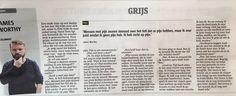 """Column James Worthy : """"Grijs"""""""