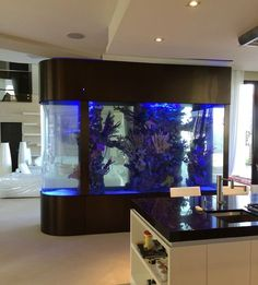 52 Modern Aquarium Partition Ideas For Living Room. Home furniture has become more modern and completely advanced nowadays, that you can have electric, automatic fireplaces, modern wall fountains, bed. Wall Aquarium, Home Aquarium, Aquarium Design, Living Room Designs, Living Room Decor, Living Rooms, Fish Tank Design, Simple Living Room, Interior Decorating