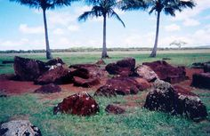 Kūkaniloko birthing stones, Wahiawa, O'ahu. A Hawaii state monument listed on the national register of historic places, this is the birthplace for many ancient high chiefs. It is an important cultural site whose full origin and purpose is still unknown. Sometimes called Hawaii's Stonehenge.