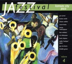 2002 Jazz Festival Vol. 4: Kansas City Jazz [Warner 5050466031624] cover painting by Alice Choné #albumcover