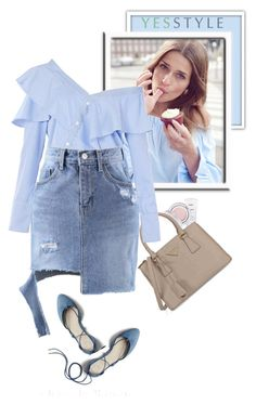 """""""YESSTYLE.com"""" by monmondefou ❤ liked on Polyvore featuring Iope, Prada, FAIR+true, Chlo.D.Manon, Gap, yesstyle and prespring"""