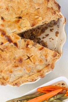 French Canadian Tourtière (Meat Pie): Epicure Recipes, My Recipes, Cooking Recipes, What's Cooking, Fast Healthy Meals, Healthy Recipes, Gluten, Pumpkin Pie Spice, Yummy Eats