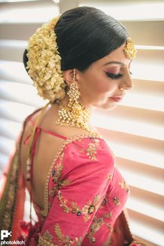 Beautiful Toronto Wedding Has Gorgeous Designer Dresses! Indian Wedding Hairstyles, Braided Hairstyles Updo, Indian Wedding Outfits, Bridal Outfits, Updo Hairstyle, Prom Hairstyles, Updos, Chignon Wedding, Bridal Updo