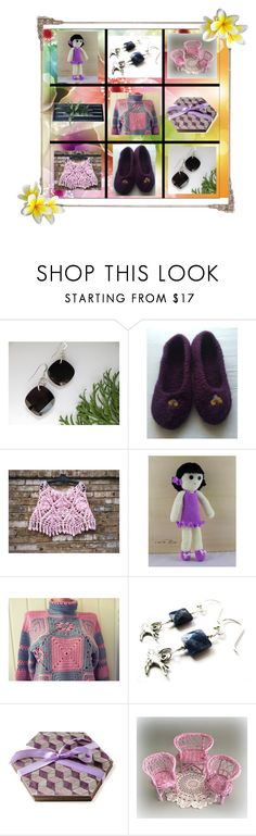 """""""Enjoy your Day!"""" by cozeequilts ❤ liked on Polyvore featuring Hostess, Bambola, Natural Blue and rustic"""