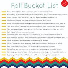 Fun fall activities--maybe date nights?
