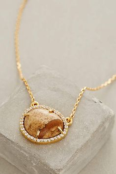 Pave Agate Pendant #AnthroFave