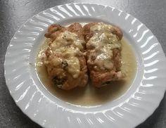 Putenschnitzel mit Bärlauch-Frischkäsefüllung