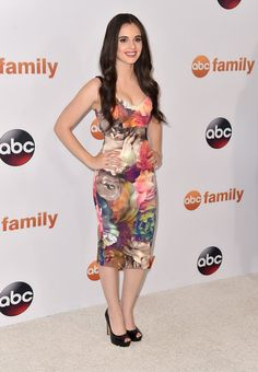 Vanessa Marano Print Dress - Vanessa Marano cut an ultra-feminine figure in this multicolored floral frock during the Disney Group's Summer TCA Press Tour.