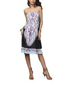 Vlunt Frauen Casual Boho Chiffon- weg von den Schulter-Minikleid-Kittel-Bluse Top