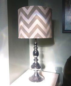 DIY Chevron Lamp Shade! Tutorial here: http://six-2-eleven.blogspot.com/2012/07/diy-chevron-lamp-shade.html