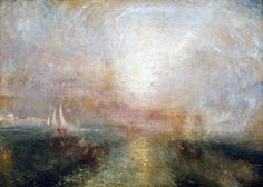 JMW Turner Watercolor Paintings | Yacht Approaching the Coast (1840-45)