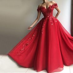 Sexy Red A-Line Prom Dresses Tulle Evening Dress Long Slit Party Gowns Cheap sold by downdress. Shop more products from downdress on Storenvy, the home of independent small businesses all over the world. Red Gown Dress, Tulle Prom Dress, Ball Gown Dresses, Dresses Uk, Elegant Dresses, Pretty Dresses, Sexy Dresses, Red Ball Gowns, Red Gowns