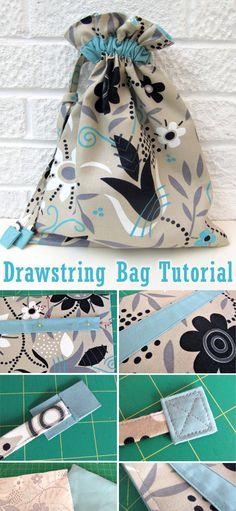 Simple Drawstring Bag Tutorial Simple Drawstring Bag Tutorial ~ DIY Tutorial Id… - Herzlich willkommen Drawstring Bag Diy, Drawstring Bag Pattern, Drawstring Bag Tutorials, Sewing Hacks, Sewing Tutorials, Sewing Tips, Sewing Ideas, Sewing Patterns Free, Free Sewing