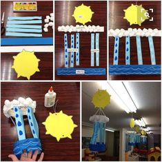Grade-Water Cycle Science, Grade 2 Earth and space. The student … Grade-Water Cycle Science, Grade Water Cycle Craft, Water Cycle Project, Water Cycle Activities, Science Activities, Science Projects, Weather Activities, Weather Crafts, Water Cycle For Kids, Water Cycle Model