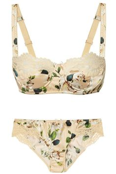 VINTAGE + FLOWER PATTERN + BALCONETTE + LACE stella mccartney Cute Underwear 08648eda6