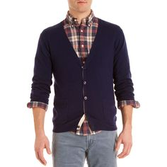 Nice Gant Rugger cardigan over a nice shirt. Like the detail on the cardigan especially.