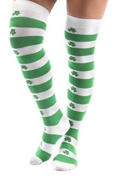 6f4eac4abb6 Details about St. Patrick s Day Socks Thigh High Over-the-Knee 9-11 Crazy  Spirit Sock Costume