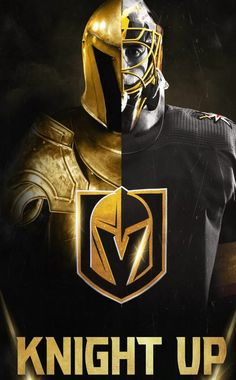 Less than 24 hours til game Tag a Knights fan. Lv Golden Knights, Vegas Golden Knights Logo, Golden Knights Hockey, Las Vegas Knights, Hockey Teams, Hockey Players, Hockey Stuff, Nhl Wallpaper, Golden Night