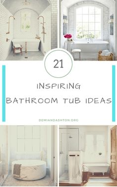 bathroom bathtub The bathroom tubs shouldnt just be functional only. They should also be aesthetical. These 21 bathroom tub ideas will help you transform the bathroom Bathroom Tub Shower, Tub Shower Combo, Vanity Bathroom, Master Bathroom, Shower Remodel, Remodel Bathroom, Budget Bathroom, Bathroom Ideas, Jacuzzi