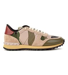 803e4a44687 VALENTINO Camo leather and suede trainers