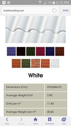 Bristile Roofing - La Escandella Roof Tiles - Curvado Glazed - White (Clay roof tile 100yr warranty)