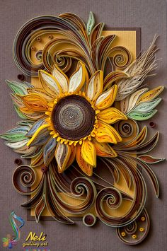 neli: I love the sunflowers- / 14.8 cm - 10.5 cm /