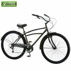"9091d836385 Sponsored(eBay) Schwinn Cruiser Bike 29"" Black Comfort Men's Bicycle City  Beach Ride Shimano NEW"