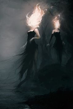"""""""What are they?"""" He yelled over the loud sound of wind. """"Flaming-headed-demons, nasty creatures. Come on!"""" I yelled back, grabbing his hand and pulling him behind me."""