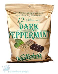 Dark Peppermint Chocolate Mini Slabs - Whittakers - 12 pack - 180g | Shop New Zealand New Zealand Food, Peppermint Chocolate, Chocolate Bars, Protein Bars, Confectionery, Cocoa, Sweet Tooth, Tasty, Kiwi