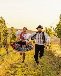Moravia, Czech republic - in the vineyards. Pictures of lost world Ethnic Outfits, Ethnic Clothes, Legends And Myths, Traditional Dresses, Traditional Wedding, Folk Dance, European Countries, Best Beer, My Heritage