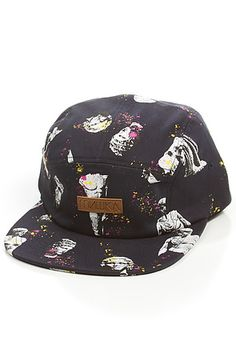 a11ea2b38c06d The Ruins 5 Panel Hat in Navy by Mishka Looks like icecream cones to me.