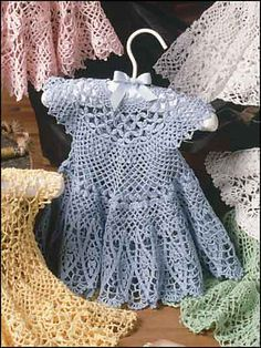 Ravelry: Blue Bliss Baby Dress pattern by Lucille LaFlamme