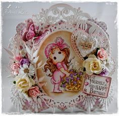 Donna's Card Emporium: Tilda With Rose Basket And A New Challenge At Love...