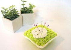 Crochet Pincushion  Granny Square Pincushion  Bright by LilyRazz, $9.50