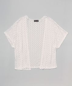 Look what I found on #zulily! Lori & Jane White Crochet Cardigan by Lori & Jane #zulilyfinds