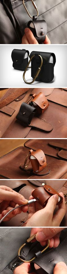 Elago's leather Airpods case has a divine design. It wraps the case in high-quality natural cow-hide leather, available in both brown and black. The case is secured by a brass fastener, which gives it a beautiful retro feel (if you're into that sort of vibe), and comes with a brass carabiner, allowing you to hang the case from your bag or anywhere else. BUY NOW!