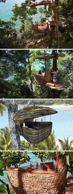Treetop dining, Soneva Kiri, Thailand