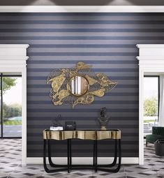 A great variety of exquisite materials compete with each other in endless colour variations of small and large stripe designs, tone-on-tone or multicoloured… _ Infinity wallcoverings by Omexco Boxing Day, Striped Walls, Stripes Design, Decoration, Infinity, Scale, Curtains, Tapestry Wallpaper, Painted Walls