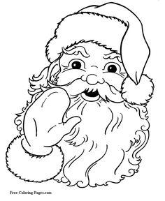 Christmas coloring pages - Santa